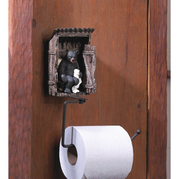 zingz thingz bear outhouse toilet paper holder reviews wayfair