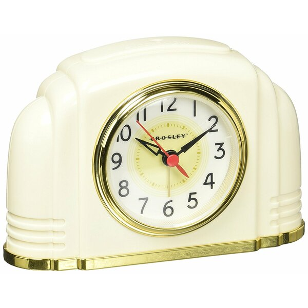 Bakelite Arch Tabletop Clock by Crosley
