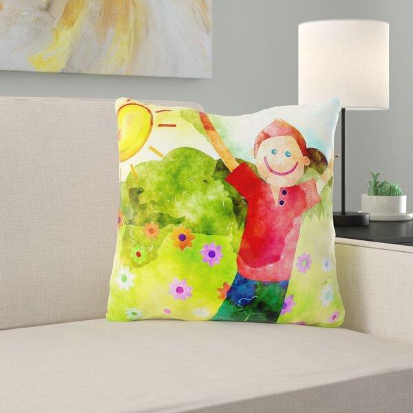 Mull Watercolour Throw Pillow