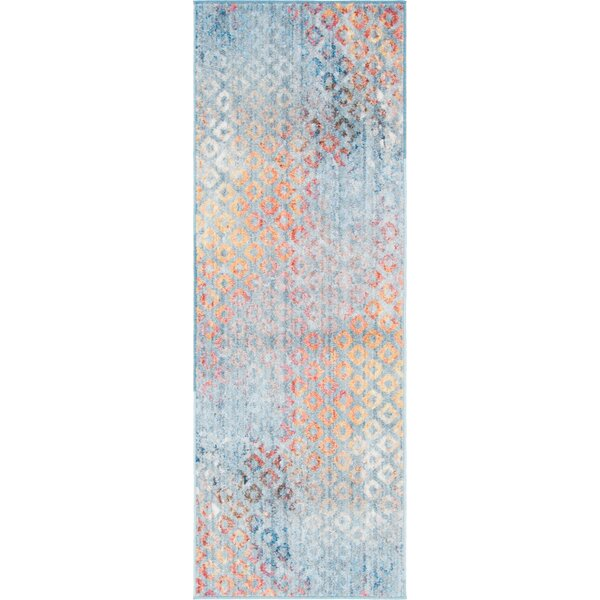 Beam Prism Blue/Orange Area Rug by Wrought Studio