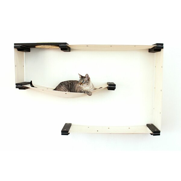 Leann 31 Mod Handcrafted Wall-Mounted Cat Tree by