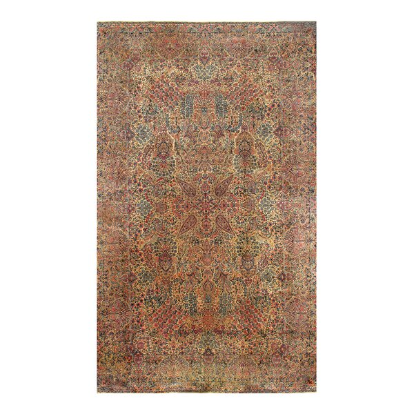 One-of-a-Kind Hand-Knotted Red 9'10 x 16' Wool Area Rug