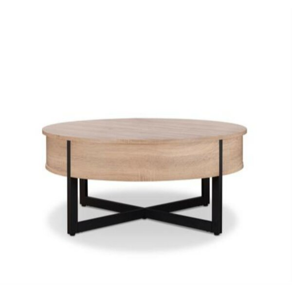 Haygarden Round Wood And Metal Coffee Table By Union Rustic