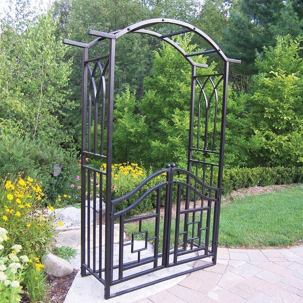 Royal Steel Arbor with Gate by Oakland Living
