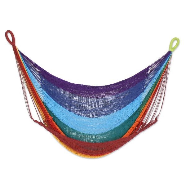Menahga Time to Relax Cotton Rope Swing Camping Hammock by Bloomsbury Market