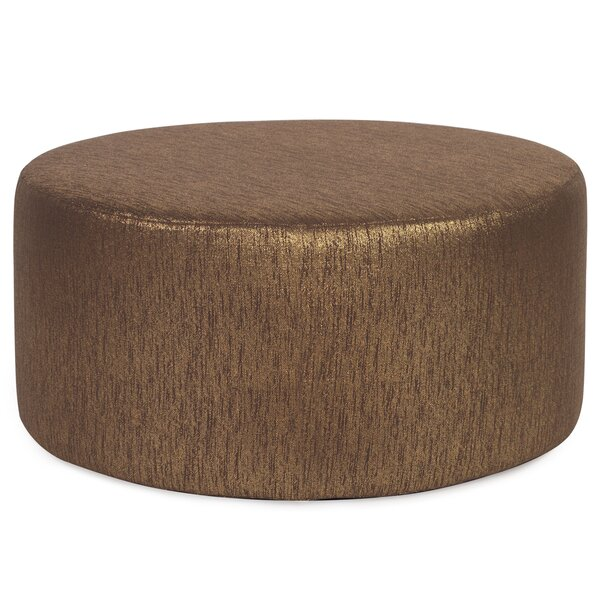 Alas Round Polyester Ottoman Slipcover by Everly Quinn