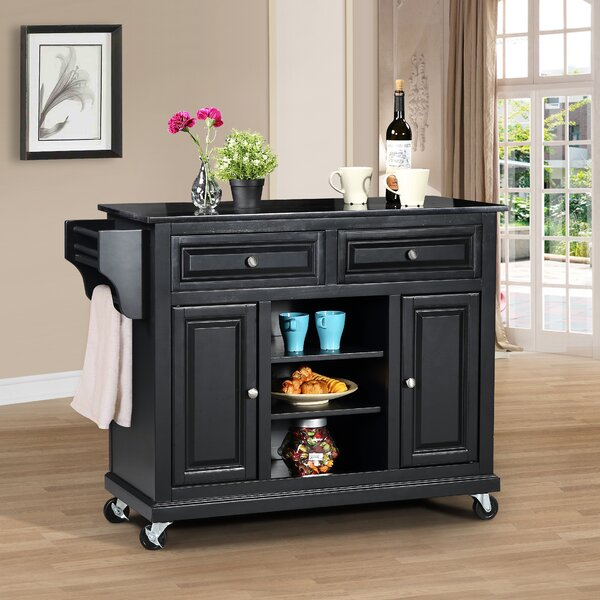 Raynham Kitchen Island with Granite Top by Charlton Home