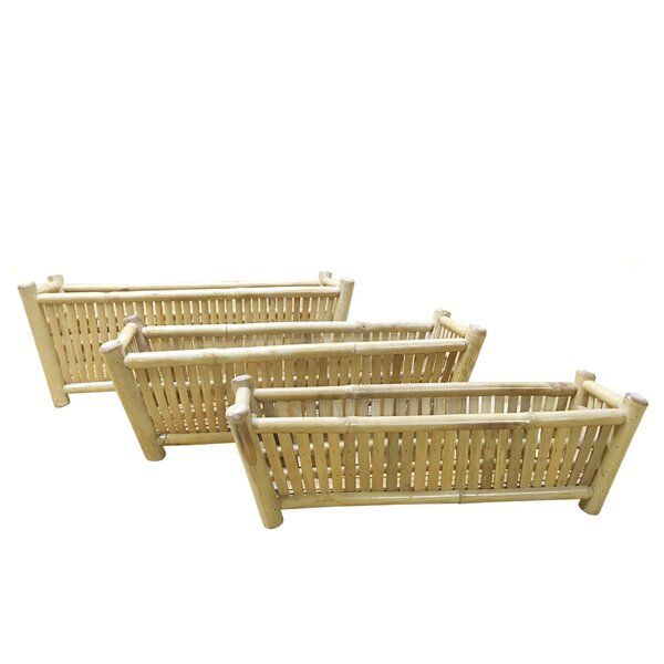 Phat Tommy 3-Piece Bamboo Planter Box Set by Buyers Choice