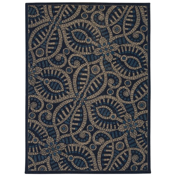 Color Motion Belle of the Ball Blue/black Area Rug by Waverly