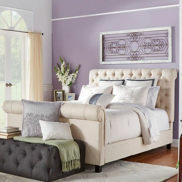 Melyna Upholstered Sleigh Bed by Lark Manor