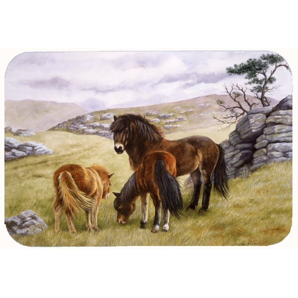 Horses in the Meadow Kitchen/Bath Mat by Caroline's Treasures