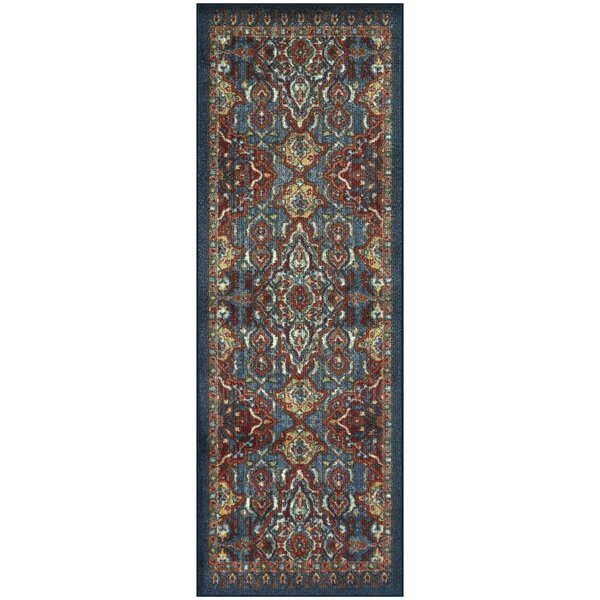 Oakdale Red/Blue Area Rug by World Menagerie