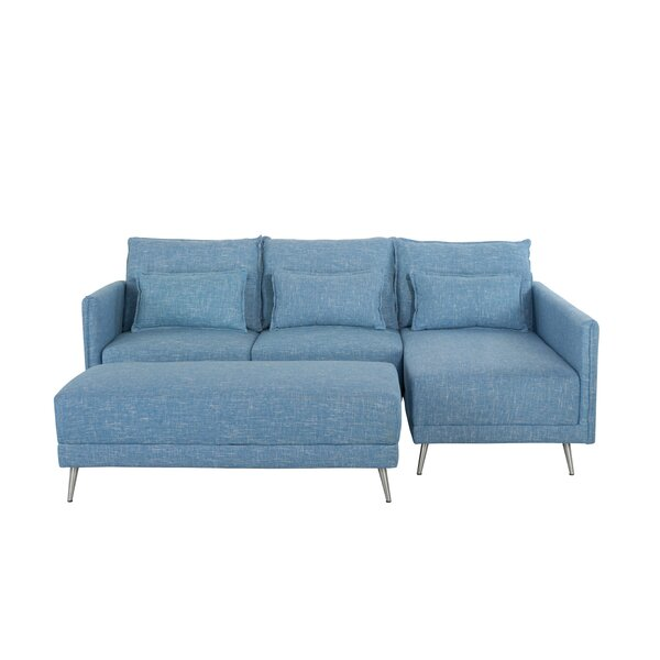 Price Compare Tivoli Right Hand Facing Sectional with Ottoman by Wrought Studio by Wrought Studio