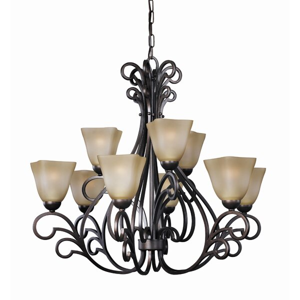 Palermo 9-Light Shaded Tiered Chandelier by Woodbridge Lighting Woodbridge Lighting