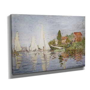 'Chapelton at Argenteuil' by Claude Monet Painting Print on Wrapped Canvas by Wexford Home