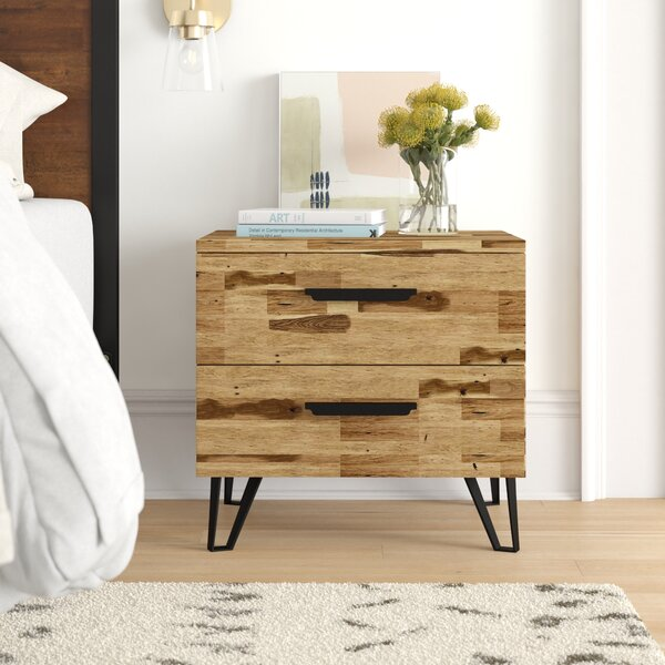 Adelle Light Wood 2 Drawer Nigthstand by Foundstone