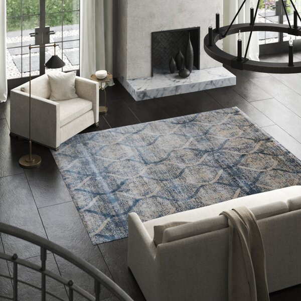 Beverly Hand-Knotted Blue Area Rug