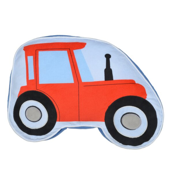 Kaylie Tractor Throw Pillow by Zoomie Kids