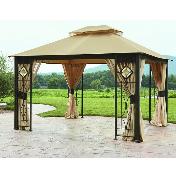 Replacement Curtain for Art Glass Gazebo by Sunjoy