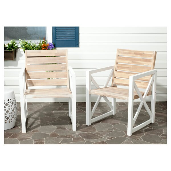 Schweigert Patio Dining Chair (Set of 2) by Laurel Foundry Modern Farmhouse