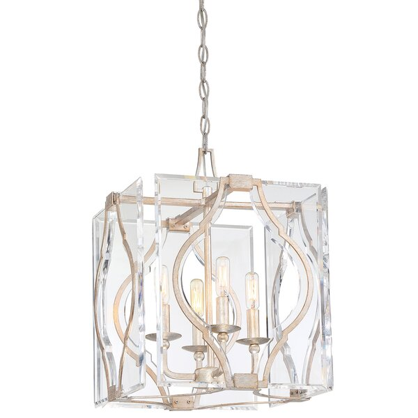 Brenton Cove 4 - Light Unique / Statement Rectangle / Square Chandelier By Metropolitan By Minka