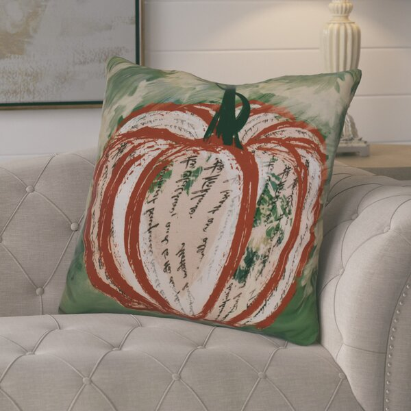Ames Artistic Pumpkin Geometric Euro Pillow by August Grove