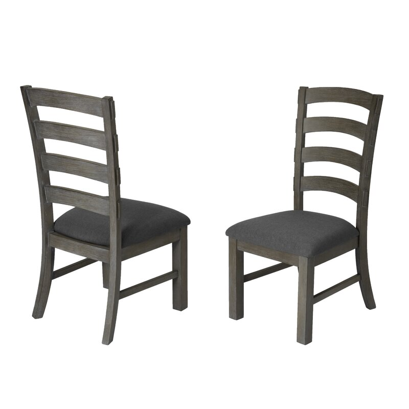 Canora Grey Santangelo Upholstered Ladder Back Side Chair ...