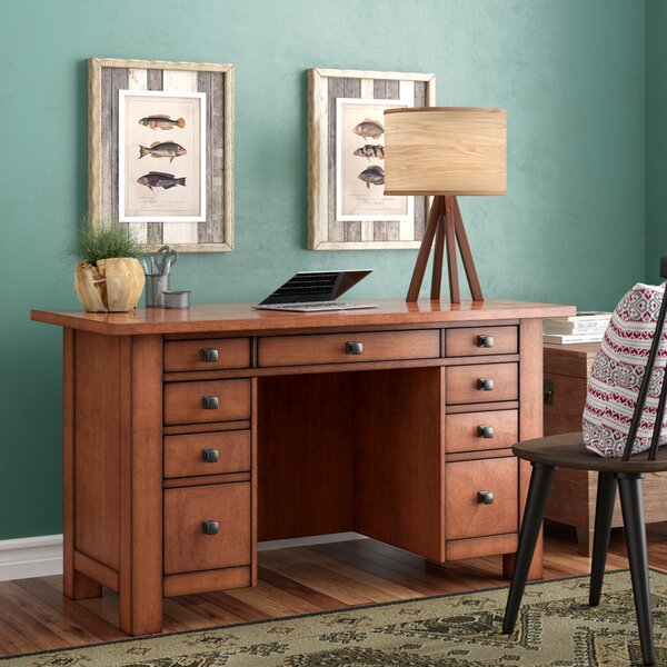 Hurst Pedestal Executive Desk by Loon Peak