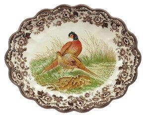 Woodland Fluted Platter by Spode