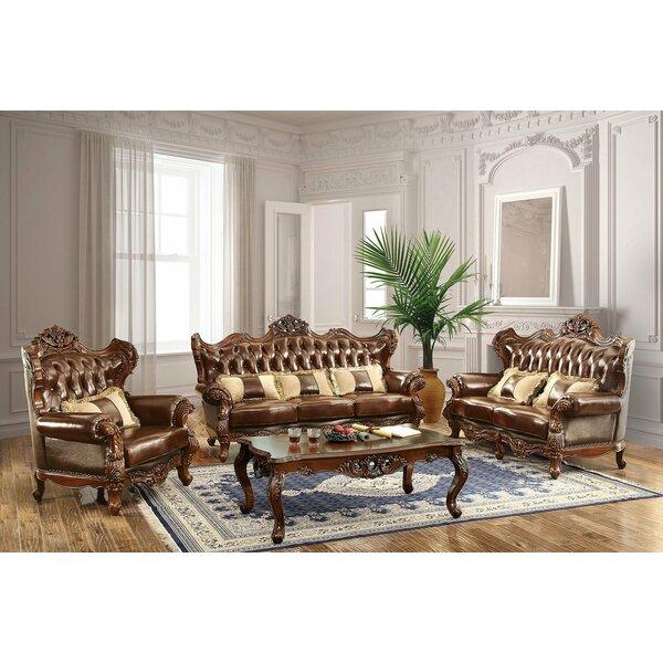 Durden 3 Piece Leather Living Room Set By Astoria Grand