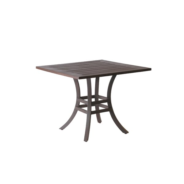 Resort Square Wrought Aluminum Bistro Table by Summer Classics