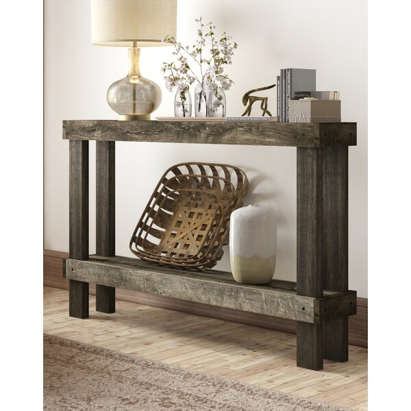 Best Reviews Dunlap Solid Wood Console Table by Union Rustic