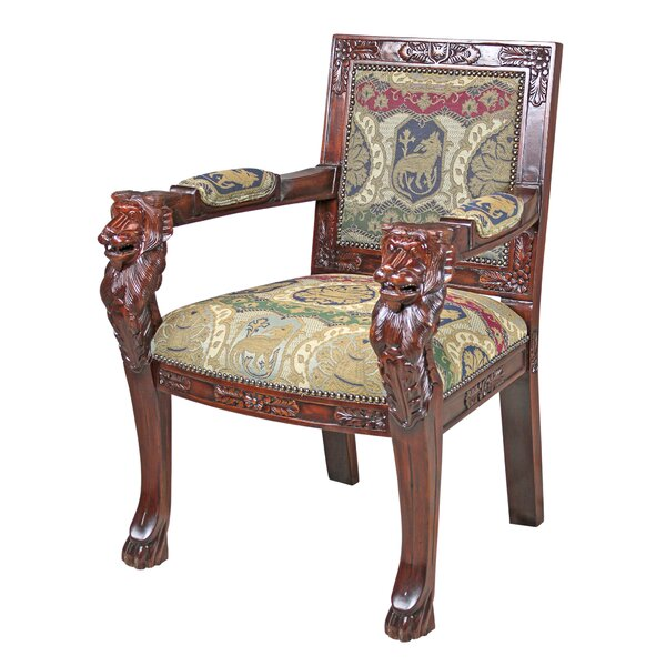 Beardsley Heraldic Lion Chair Armchair By Design Toscano