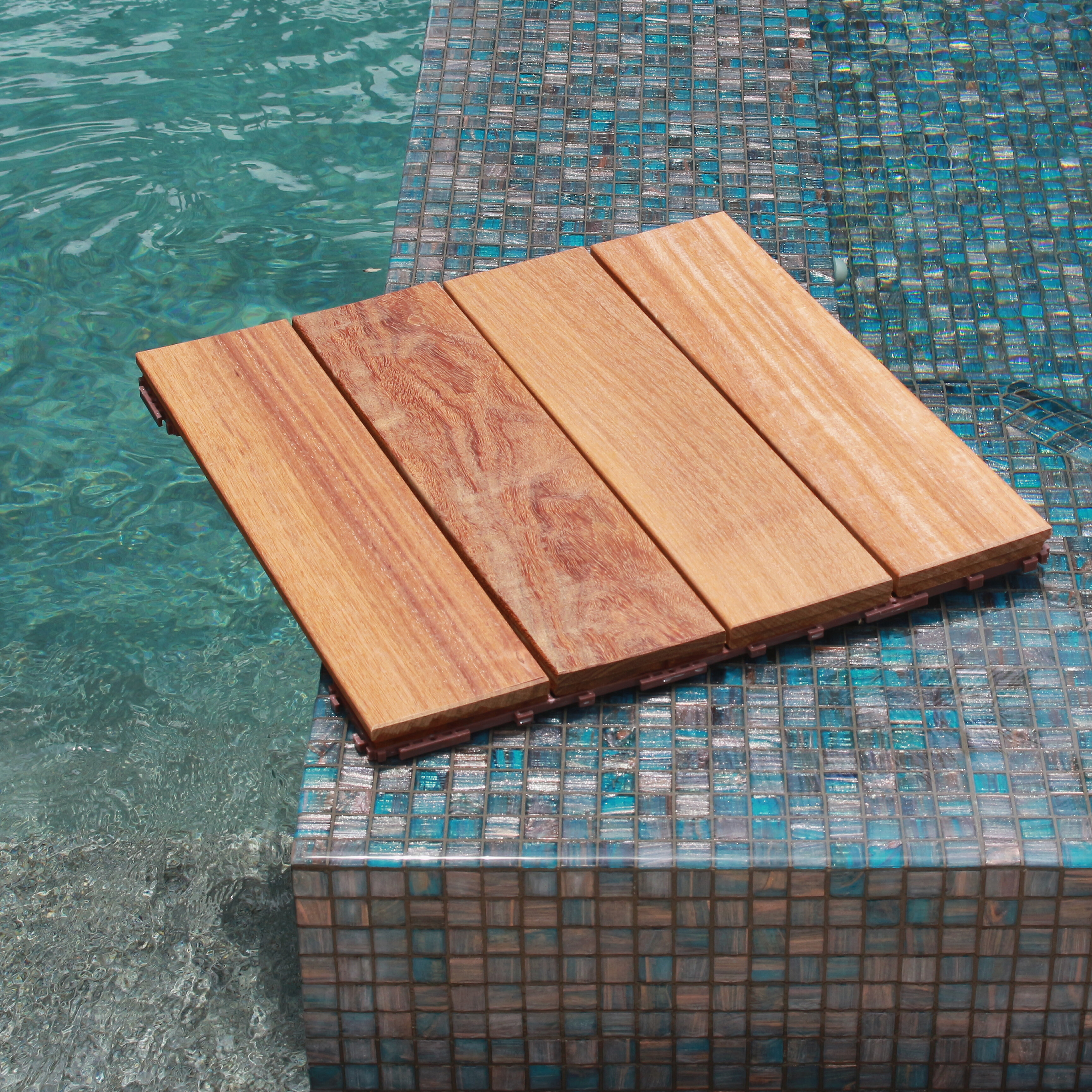 Flexdeck hardwood 18 x 18 snap in deck tiles in natural flexdeck hardwood 18 x 18 snap in deck tiles in natural reviews wayfair dailygadgetfo Image collections