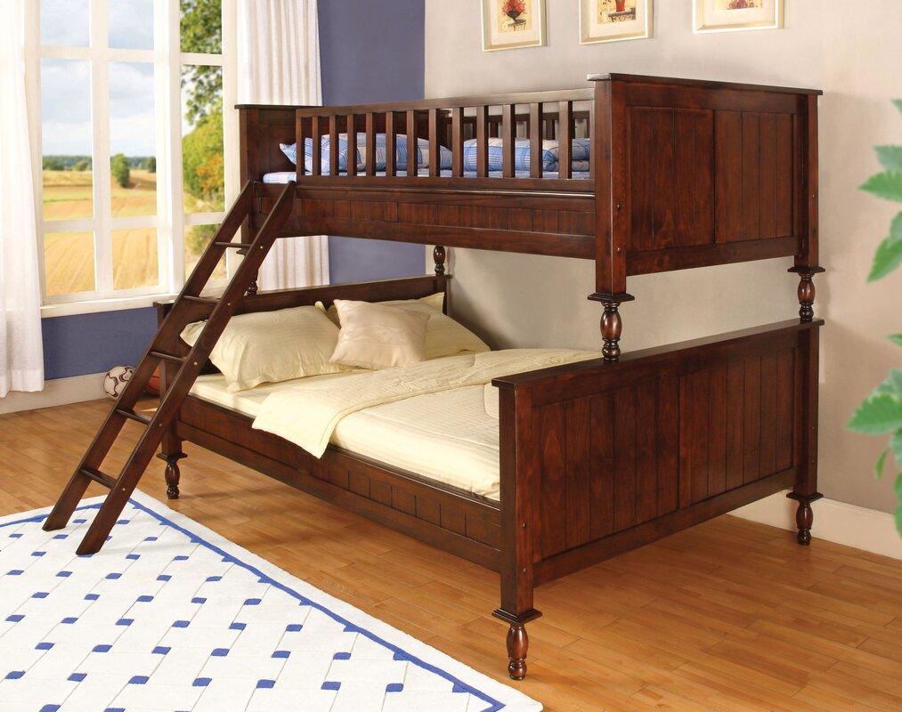milton twin over full futon bunk bed hokku designs milton twin over full futon bunk bed  u0026 reviews   wayfair  rh   wayfair