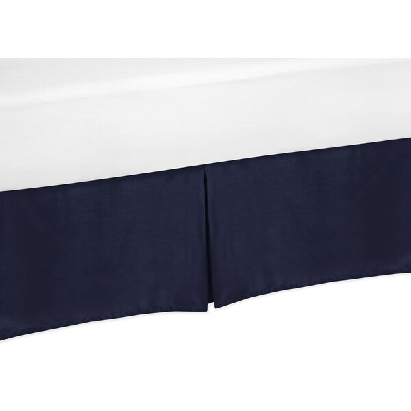 Arrow Solid Navy Blue Bed Skirt by Sweet Jojo Designs