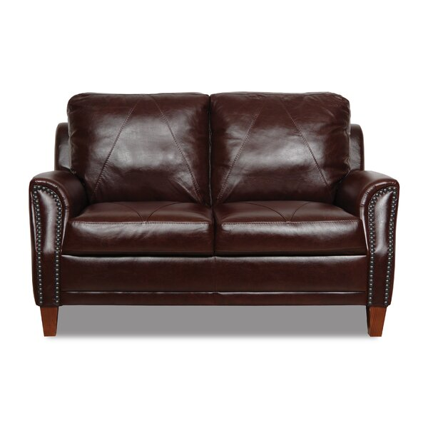 Valuable Shop Austin Leather Loveseat by Williston Forge by Williston Forge