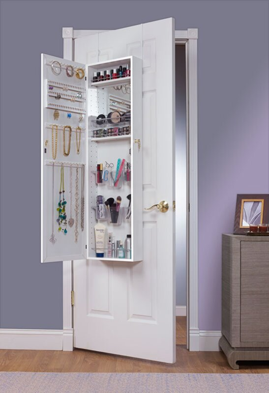 Bulgera Combination And Makeup Storage Wall Mounted Or Over The Door  Jewelry Armoire