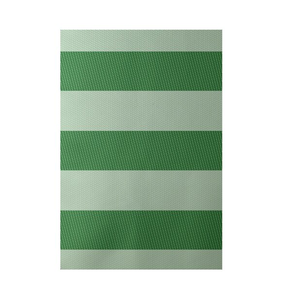 Stripe Green Indoor/Outdoor Area Rug by e by design