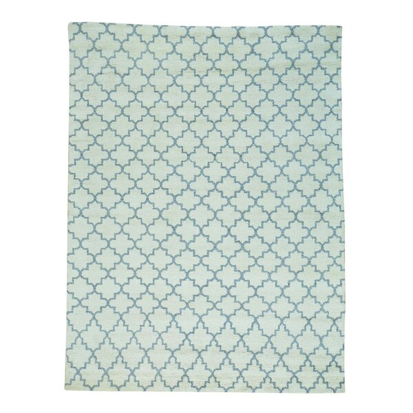 One-of-a-Kind Katsikis Berber Thick and Plush Hand-Knotted Ivory Area Rug by Darby Home Co