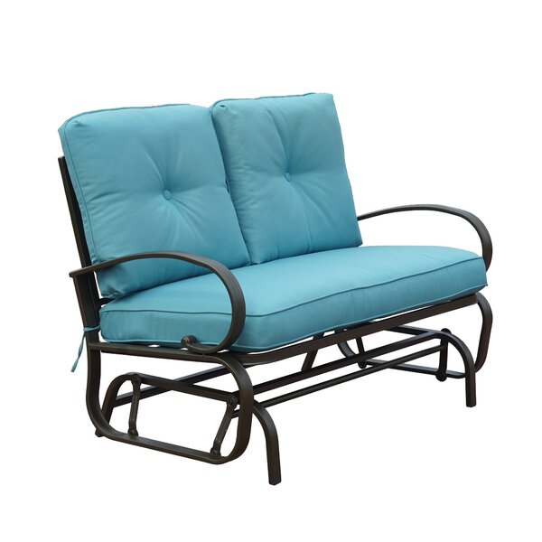 Kimberly Rocking Glider Bench with Cushions by Charlton Home