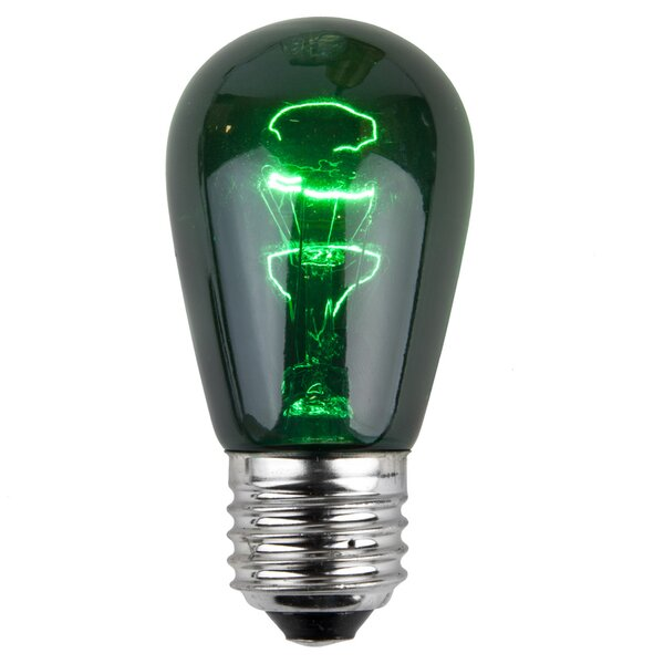 11W Green 130-Volt Light Bulb (Pack of 20) by Wintergreen Lighting