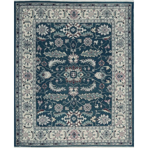 One-of-a-Kind Hand-Knotted Wool Green/Ivory Area Rug by Bokara Rug Co., Inc.