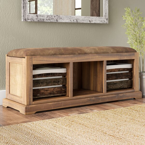 Donovan Upholstered Storage Bench by Loon Peak