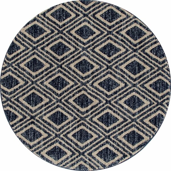 Bugg Navy Blue Area Rug by Wrought Studio