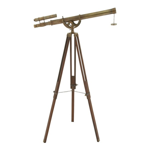 Tarnished Handcrafted Decorative Telescope by Urban Designs