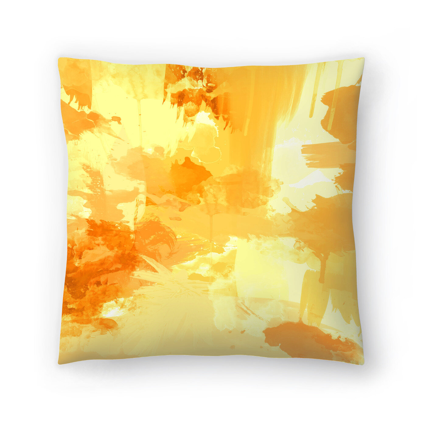 Pop Yellow Throw Pillow