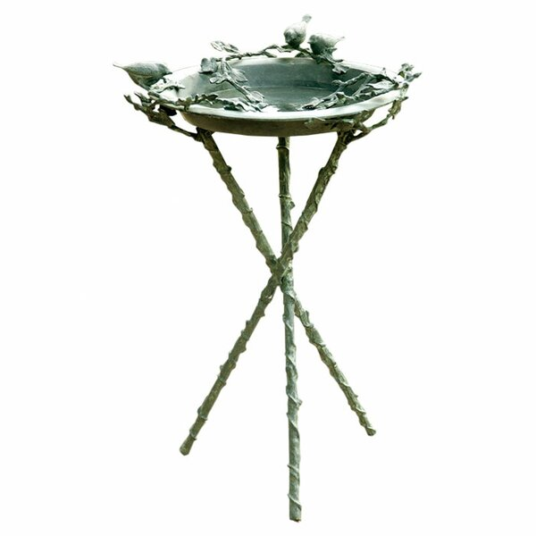 Love Birds and Branch Birdbath by SPI Home