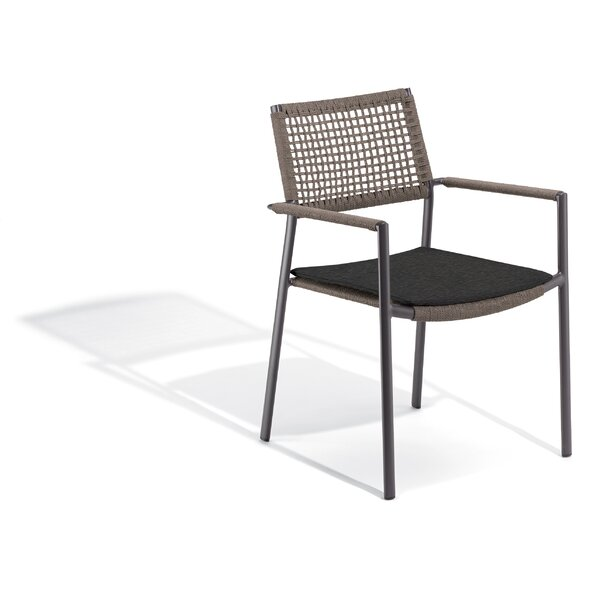 Campagna Stacking Patio Dining Chair with Cushion by George Oliver