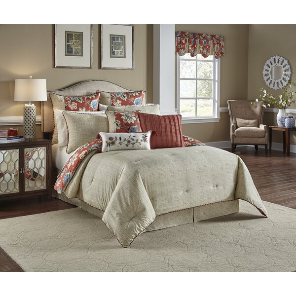 Brighton Blossom Cotton 4 Piece Reversible Comforter Set by Waverly